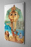 Tin Sign Ancient Egypt Pharaoh Sphinx Hieroglyphics...