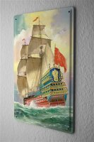 Maritime Decoration Tin Sign Ship frigate sailing ship...