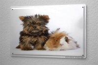 Tin Sign Nursery Decoration Terrier puppy Hamster Metal...