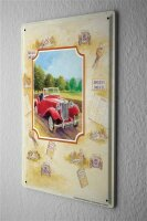 Blechschild Werkstatt Wand Motiv England Oldtimer Metallschild 20X30 cm