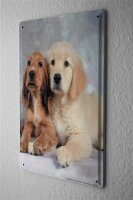 Blechschild Hunde Rasse Welpen Golden Retriever Cocker Spaniel Metallschild 20X30 cm