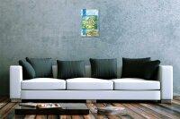Blechschild Weltenbummler Cottage Landhaus England Metallschild 20X30 cm