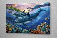 Tin Sign Nursery Decoration Dolphin turtle sea animals...