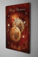 Blechschild Jahreszeiten Deko Frohe Weihnachten Wand Poster Metall Schild 20X30 cm