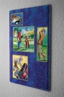 Blechschild Sport Golf Putter Caddy Deko Wand Schild 20X30 cm