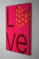 Blechschild LOVE Liebe Herz Metall Deko Schild 20X30 cm