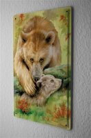 Tin Sign Nursery Decoration bear bear cub Metal Plate...