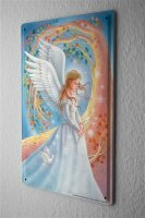 """Fun Decorative Tin Sign Angel Dove Orchid Metal Plate 8X12"""""""