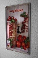 Tin Sign Food Restaurant Decoration Tomato Basil Kitchen...