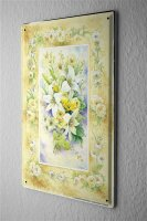 Blechschild Pflanzen Deko Blumenbouquet Karte Metall Wand...