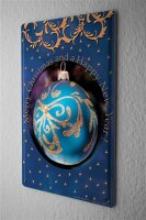 Tin Sign Christmas Decoration Bauble Happy New Year Metal...
