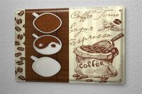Blechschild Restaurant Küchen Deko Kaffee Bohnen Espresso Wand Metall Schild 20X30 cm