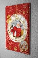 Tin Sign Nostalgic Christmas Decoration Santa Claus...