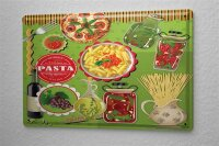 Tin Sign Food Restaurant Decoration Pizza Pasta olive oil...