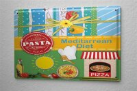 Tin Sign Kitchen Decor Mediterranean diet Pizza Metal...