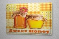 Tin Sign Food Restaurant Decoration sweet honey honey jar...