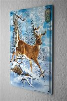 "Tin Sign Nursery Decoration deer  Metal Plate 8X12"""