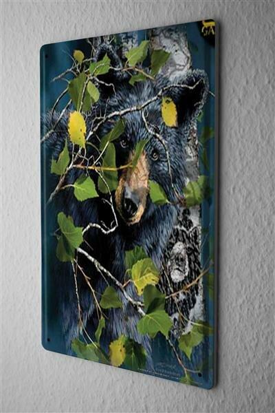 Blechschild Tierarzt Praxis Deko Grizzly Metallschild 20X30 cm