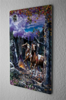 Tin Sign Fantasy  Gothic horses  Decorative Wall Metal...