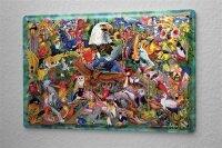 Tin Sign Fantasy  Gothic colorful birds  Decorative Wall...