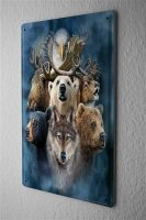 Decorative Tin Sign Vet Practice Alaska Animals  Metal...