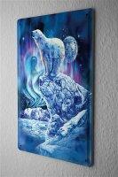 Tin Sign Fantasy  Gothic Polar Bear  Decorative Wall...