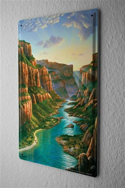 Blechschild Abenteurer Flusslauf Grand Canyon