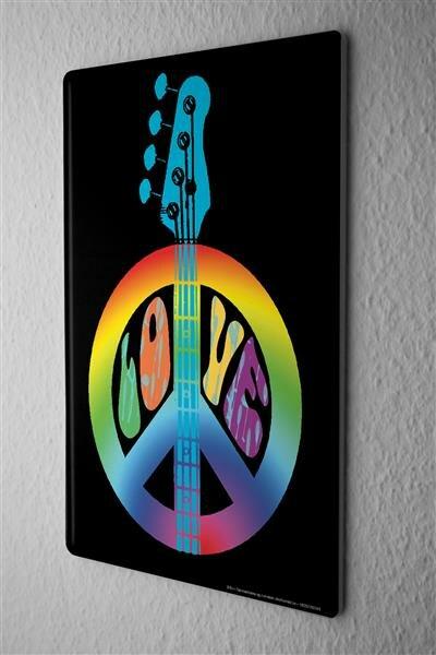Blechschild Star abstrakte Gitarre LOVE