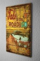 Tin Sign Vintage Car Vintage traffic light saying Take to...