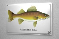 Tin Sign Fun Walleye