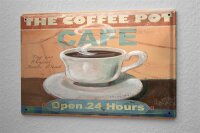 Tin Sign Coffee Cafe Bar great cup of coffee