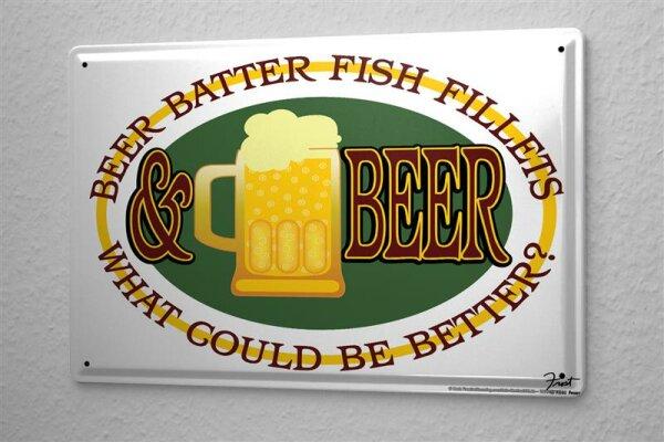 Blechschild Nostalgie Bier Bierkrug Spruch