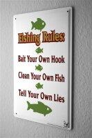 Tin Sign Coastal Marine fishing rules