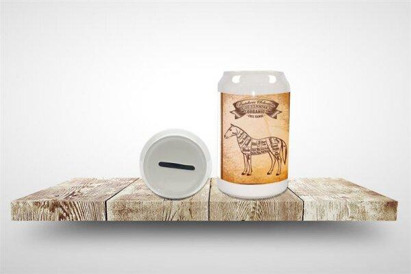 Money Box Retro Horse meat Ceramic Print