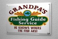 Tin Sign Coastal Marine Fishing guide fishing areas