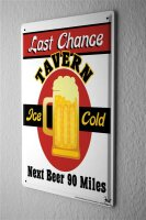 Tin Sign Brewery Beer Kitchen iced beer mug last chance