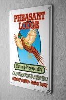 Tin Sign Fun Pheasant Hunting Shooting expert guide dogs