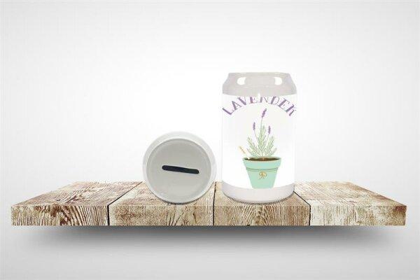 Money Box Flora Floral Lavender Ceramic Print