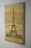 Tin Sign Holiday Travel Agency Eifel tower ancient writings