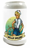 Money Box Oceans Sailor steering wheel Ceramic Print