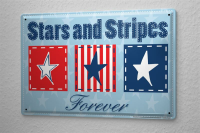 Blechschild Welt Reise USA Stars and Stripes forever