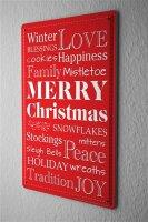 Tin Sign Fun Kitchen Winter Christmas love family tradition