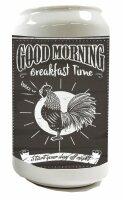 Money Box Bird  Good morning cock Ceramic Print