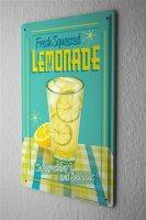 Tin Sign Nostalgic Lemons into lemonade freshly squeezed