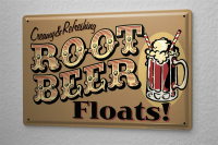 Tin Sign Beer Nostalgic Root Beer Stein creamy refreshing