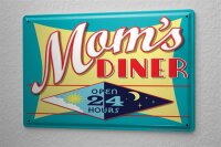 Tin Sign Kitchen Mom s Diner open day and night