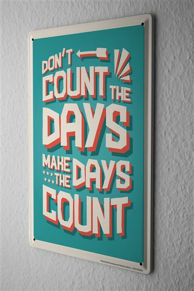 Blechschild Nostalgie Motiv Count Days