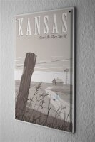 Tin Sign Holiday Travel Agency Kansas Country House fence...