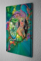 Tin Sign Fantasy Gothic Woman in colorful ball sailing...