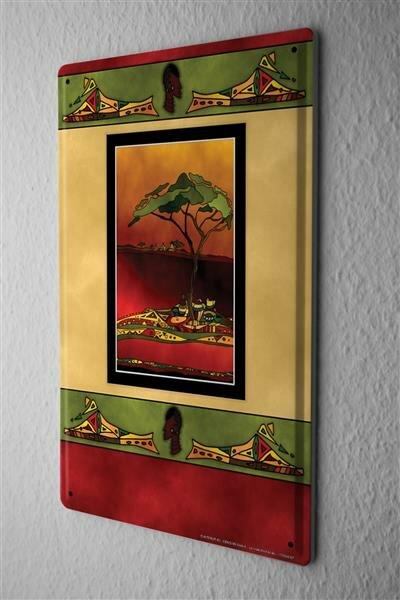 Blechschild Welt Reise Afrikanische Steppe Wand Deko Schild 20X30 cm